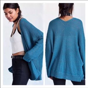 Urban outfitters slouchy Teal cardigan sweater